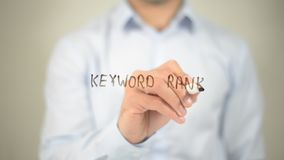 Grau da palavra-chave, escrevendo na tela transparente ilustração do vetor