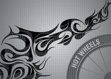 Grau flammt Hintergrund Stockfoto