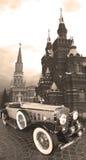 Grau - grünes Auto von den zwanziger Jahren Stockfotografie