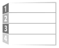 Grau nummerierte Reihen Stockfoto