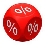 Graue Abbildungen mit Prozentzeichen vor schwarzem Hintergrund Stockfoto