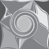 Graue abstrakte Welle, prägeartiger Schattenwirbel, Gestaltungselement backgr vektor abbildung