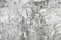 Graue alte Betonmauer mit Schmutzflecken Stockfotografie