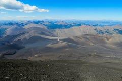 Graue Asche nach Vulkan erruption Lizenzfreies Stockbild