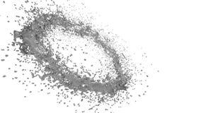 Graue Autofarbe, die einen Kreis auf klarem weißem Hintergrund bildet Alpha Matt-, volles hd, CG, 3d übertragen Element der Beweg lizenzfreie abbildung