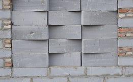GRAUE BLOCK-WAND Lizenzfreie Stockbilder