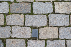 Graue brickes auf dem Boden Stockbilder