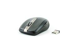 Graue drahtlose Maus auf lokalisiertem Hintergrund Lizenzfreies Stockbild