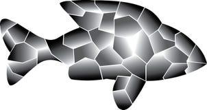 graue Farben Einsame Fische vektor abbildung