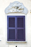 Graue Fenster jerago Palast-Italien-Zusammenfassung Stockfotografie