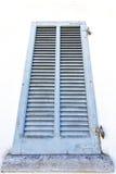 Graue Fenster viladosia Palastvorhänge im Ziegelstein Lizenzfreies Stockfoto
