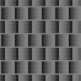 Graue geometrische Beschaffenheit mit wiederholtem schwarzem Quadrat von verschiedenen Größen Lizenzfreie Stockbilder