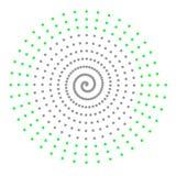 Graue grüne abstrakte Spirale Lizenzfreie Stockfotos
