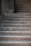 Graue konkrete Treppe Stockfotografie