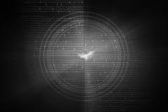 Graue Kreisglühenwelle Scifi- oder Spielhintergrund Stockfoto