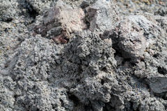 Graue Lava und Asche im Vulkan Lizenzfreies Stockfoto