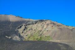 Graue Lavaasche in den Vulkansteigungen Lizenzfreie Stockfotos