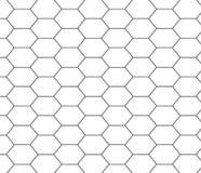 graue Linie Hexagonbienenwaben-Musterhintergrund Lizenzfreie Stockfotos