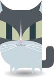 Graue Miezekatze (Katze) Lizenzfreies Stockbild