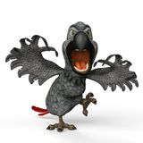 Graue Papageienkarikatur erschreckend Sie lizenzfreie abbildung