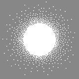 Graue Pixelkunstfahne Lizenzfreie Stockbilder