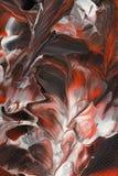 Graue rote Acrylmalerei Stockfoto
