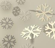 Graue Schneeflocken stockbilder