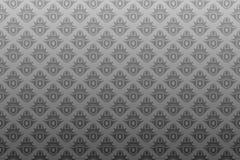 Graue schwarze antike nahtlose Tapete Stockbild