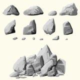 Graue Steine eingestellt Lizenzfreie Stockbilder