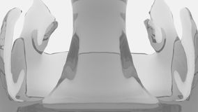 Graue transparente Flüssigkeit füllt den Schirm auf, lokalisiert auf weißem vollem HD lizenzfreie abbildung
