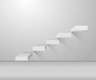 Graue Treppe und stilvolles Design auf Illustration Lizenzfreies Stockbild