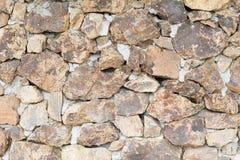 Graue und braune Steinwand Lizenzfreie Stockfotos