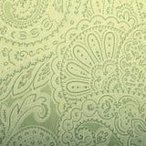 Graue und grüne Tapete der Weinlese mit Paisley Stockfotos