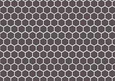 graue und weiße Bienenwabenzusammenfassung geometrisch Stockfotografie