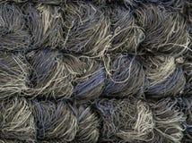 Graue und weiße Teppichfasern lizenzfreie stockfotos