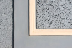 Graue Wand mit gelbem Streifen Lizenzfreie Stockfotografie