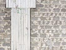 Graue Wand von Brettern und von Blöcken Stockbild