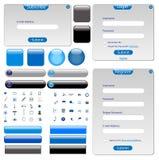 Graue Web-Schablone Stockbilder
