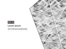 Grauer abstrakter geometrischer Geschäftshintergrund und -darstellungen lizenzfreie abbildung