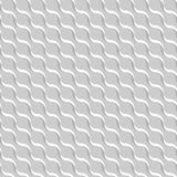 Grauer abstrakter gewellter Hintergrund 3D-like Vector nahtloses Muster Stockbild