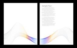 Grauer abstrakter Hintergrund, Frontseite und Rückseite Stockbilder