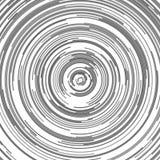 Grauer abstrakter Kreishintergrund - Vektorgraphik von den Halbkreisen Lizenzfreie Stockbilder