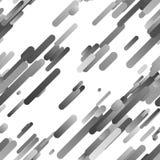 Grauer abstrakter nahtloser diagonaler Steigungsstreifen-Musterhintergrund Stock Abbildung