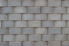 Grauer Blockziegelstein des Hintergrundmusterwandsteins stockfotografie