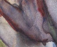 Grauer des Zusammenfassungs-Aquarells nasser, blauer und schwarzer Hintergrund mit Flecken Aquarell-W?sche stock abbildung