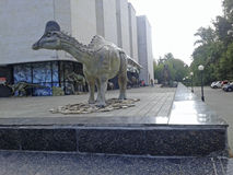 Grauer Dinosaurier Stockfotografie