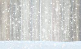 Grauer hölzerner Hintergrund des Vektors für Weihnachtsdesign Lizenzfreie Stockfotos