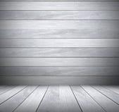 Grauer hölzerner Raumbeschaffenheitshintergrund Stockfotografie