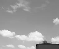Grauer Himmel Stockfoto