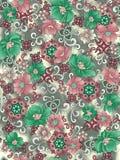 Grauer Hintergrund des nahtlosen Blumenblumenentwurfs lizenzfreie abbildung